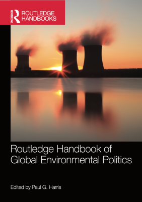 Paul G. Harris (ed.), Routledge Handbook of Global Environmental Politics (hardback, 2014; updated paperback edition, 2016). The Routledge Handbook of Global Environmental Politics provides a comprehensive and authoritative survey of global environmental politics. It brings together leading international academic experts and features 40 chapters that describe the history of global environmental politics as a discipline and explain the various theories and perspectives used by scholars and students to understand it; examine the key actors and institutions in global environmental politics, explaining the role of states, international organizations, regimes, international law, foreign policy institutions, domestic politics, corporations and transnational actors; address the ideas and themes shaping the practice and study of global environmental politics, including sustainability, consumption, expertise, uncertainty, security, diplomacy, North-South relations, globalization, justice, ethics, participation and citizenship; and assess the key issues and policies within global environmental politics, including energy, climate change, ozone depletion, air pollution, acid rain, sustainable transport, persistent organic pollutants, hazardous wastes, water, rivers, wetlands, oceans, fisheries, marine mammals, biodiversity, migratory species, natural heritage, forests, desertification, food and agriculture. With an in-depth update by the editor, this expanded paperback edition of the handbook should be an invaluable resource for students, scholars, researchers and practitioners of environmental politics, environmental studies, environmental science, geography, international relations and political science.
